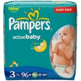 Pampers Active Baby 3 96ks