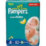 Pampers Active Baby 4 82ks
