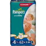 Pampers Active Baby-Dry 4 62ks